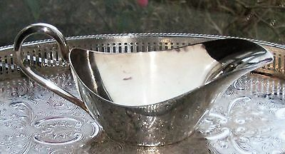 Vintage Elkington & Co Silver Plated Gravy Sauce Boat Heavy Quality