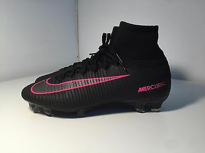 Mens Nike Mercurial Superfly FG Black Pink Pro Soccer Cleats Football Shoes New