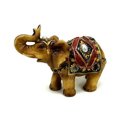 "Small Elephant Statue Feng Shui Lucky Elephant Figurine Collectible 2.5"" Tall"