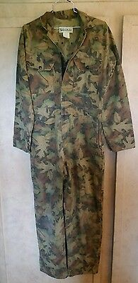 Gander Mountain Kelly Cooper Camouflage Coveralls sz. Large. USA made.