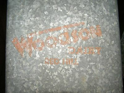 Vintage Metal Insulated Galvanized Woodson Dairy Red Hill, PA Porch Milk Box