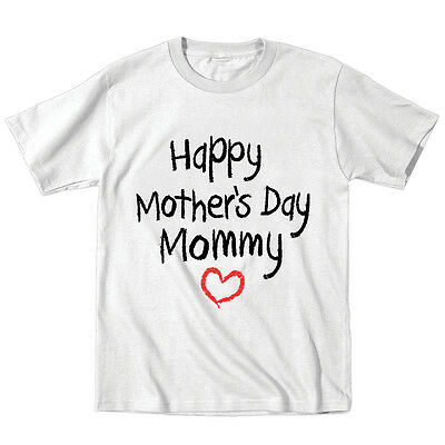 Happy Mothers Day Mommy Cute Kids Baby Gift New Mom White Toddler T-Shirt