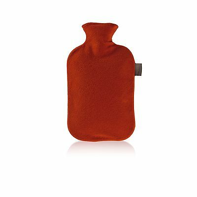 Fashy Hot Water Bottle with Fleece Cover Red 2.0L Red Fleece
