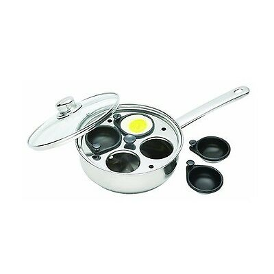 Kitchen Craft Stainless Steel Four Hole Egg Poacher Kitchen Craft
