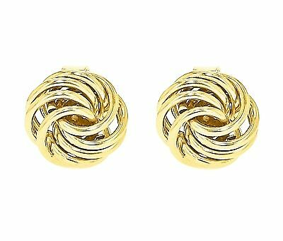 Carissima Gold 9 ct Yellow Gold Mini Rose Stud Earrings