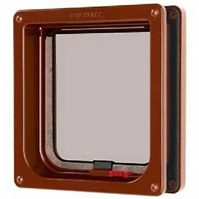 Cat Mate Lockable Cat Flap with Door Liner - Brown