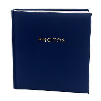 200 Photo Slip In Archival Quality Photo Album Blue Cover