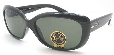 Ray Ban 4101 Jackie Ohh 601 58mm Black Sunglasses New Authentic