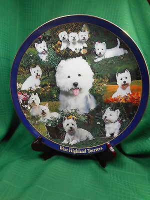 Danbury Mint West Highland Terriers Collector Plate