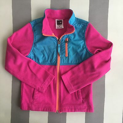 The North Face Girl's Long Sleeve Fleece Zip Jacket Multi Colored Size 5