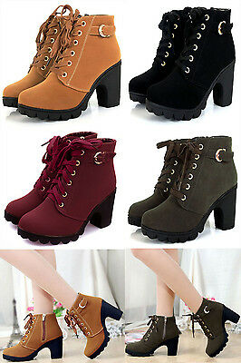 Women's Casual High Heel Single Shoes Vintage Motorcycle Canvas Sneakers Shoes