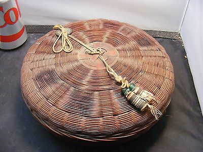 antique chinese basket  chinese coin