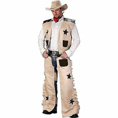 Adult Rodeo Cowboy Costume Fancy Dress Mens Western Outfit Halloween Stag Party