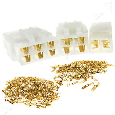 10 Sets 2/4/6 Way Pin 6.3mm Electrical Multi Plug Connector Terminal Block
