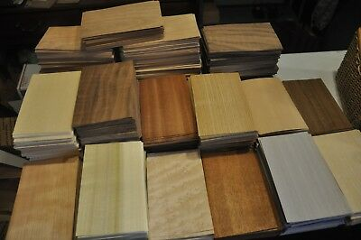 "Special! Grab Box full of 5"" x 8"" sheets of mixed wood veneer      IC50"