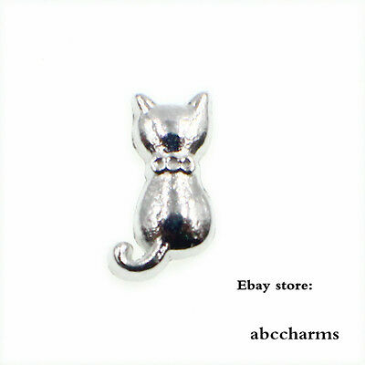10pcs cat Floating Charms For Living Memory Glass Locket Free Shipping FC0610