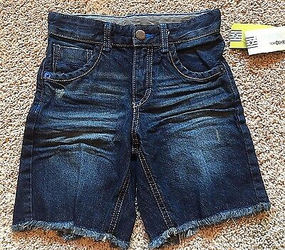 NWT Boy's Dark Blue Adjustable Waist Denim Shorts 2T