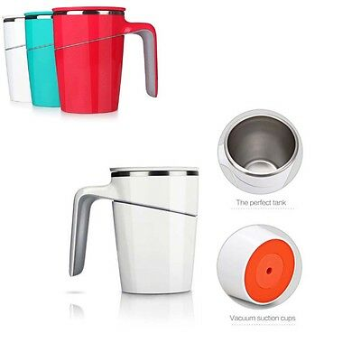 Stainless Double  Wall Tea Coffee Mug Tumbler Travel Cups Vacuum Chuck 470ML Hot