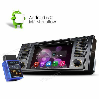 "OBD-II+ Android 6.0 7"" For BMW E39 M5 Car CD DVD Stereo GPS B Bluetooth WIFI NAV"