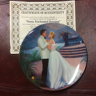 """NIB Knowles SOUTH PACIFIC """"SOME ENCHANTING EVENING"""" Collector Plate Gignilliat"""