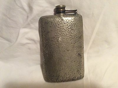 Antique Vintage Apollo Silver Co Hammered Flask