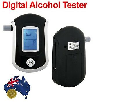 Compact accurate breathaliser alcohol tester digital lcd display high quality
