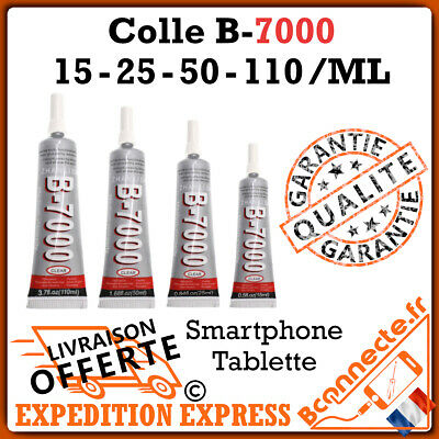 COLLE GLUE B7000 15mL 25mL 50mL 110mL ADHESIF CHASSIS LCD ECRAN VITRE TACTILE