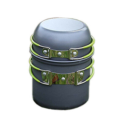 WD Portable Outdoor Cooking Set Anodized aluminum Non-Stick Pot Bowl cookware