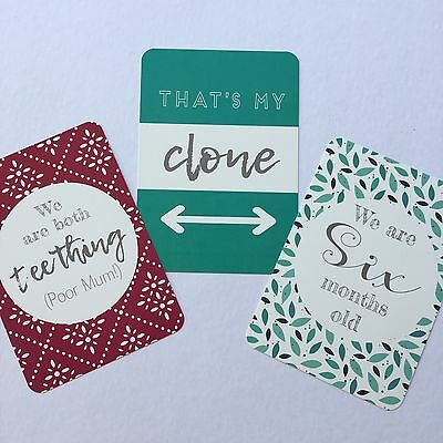 ON SALE - Modern Twin Baby Moments & Milestone Cards - 30 Pack