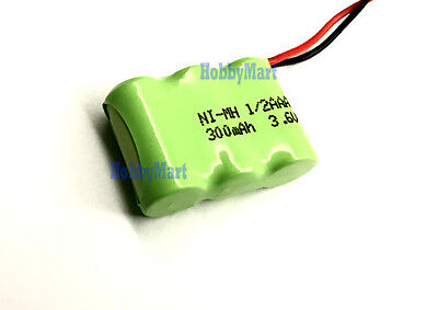 3.6V Ni-MH AAA 1/2 300mAh 3-Cell Home Phone Battery Pack w/. Universal connector