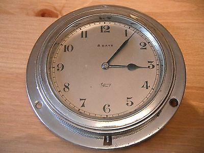 Asprey 8 day front winding motor car dashboard clock