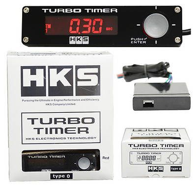 HKS Digital Car Turbo Timer Boost Gauge - Control LED With Voltage Meter Display