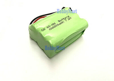 7.2V Ni-MH 800mAh AAA 6 cell Rechargeable Battery Pack SM Plug for RC Boat Car