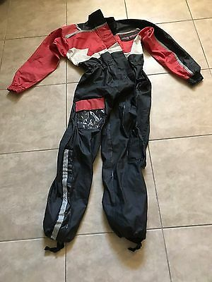 Teknic One Piece Motorcycle Riding Suit L Large Red & Black