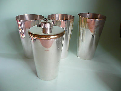 Antique Campaign Silver Plated Beaker & Flask Set.....................ref.10015