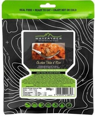 Wayfayrer Chicken Tikka and Rice Meal Pouch - Real Food, Ready to Eat