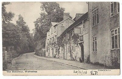 WOLVERLEY The Holloway, Postally Used Postcard 1906, Carter's Series