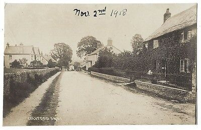 COLYFORD Devon, View in the Village, RP Postcard by Chapman Unused