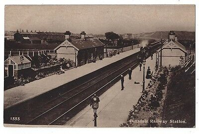 DINSDALE Railway Station, RP Postcard Postally Used