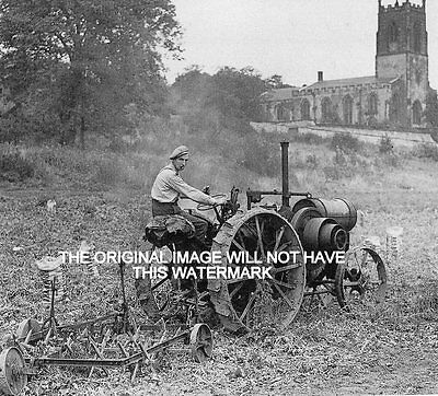 1917 Titan Harvester Parafin Tractor Vintage Mounted Print Farming History