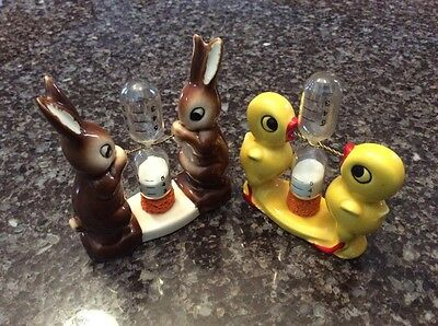 Goebel Rabbit and Duck Timers - Lot of 2 - Vintage!