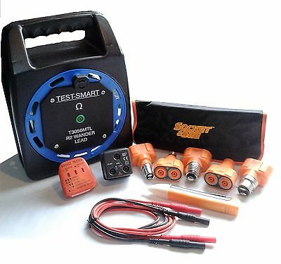 Electricians wander lead test kit light fitting R2 adaptor socket tester v stick