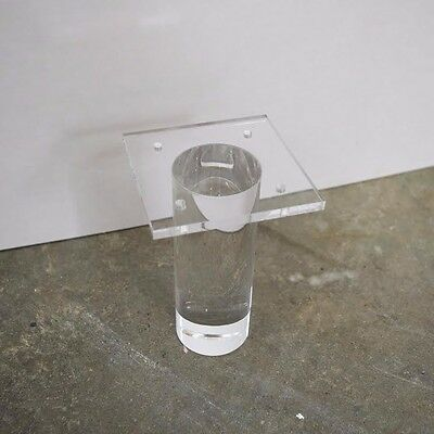 Set of 4 Lucite/Acrylic Furniture Legs Simple Cylinder Style