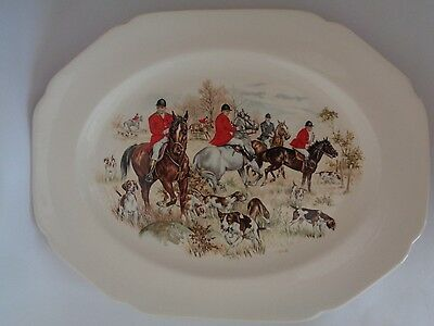 Decorative Horse Riding Hunting Scene Large Platter Serving Plate 38 x 30 cm