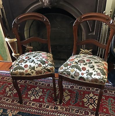 Pair Victorian Chairs Parlor Chairs Side Chairs Antique Lovely