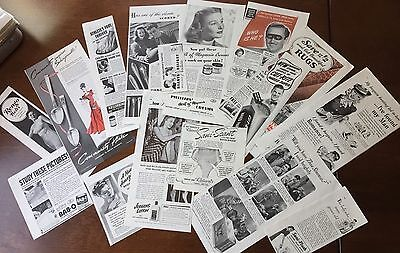 Vintage Magazine Print Ads 1940's Bundle Lot 1