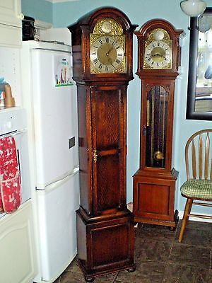 A chiming oak case Grandfather clock by EMBEE the great German maker Circa i930.