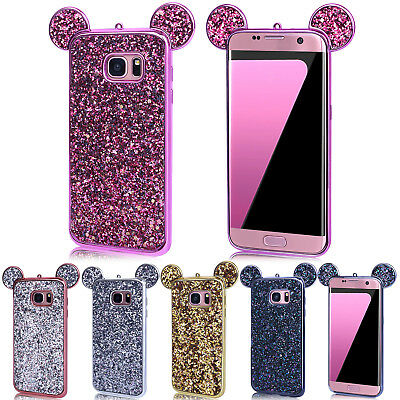 For Samsung S6 S7 Edge Bling TPU Soft Slim Rubber Protective Silicone Case Cover