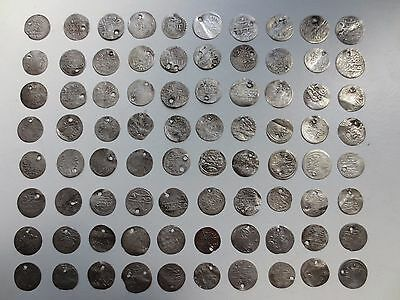 LOT of 80pcs SILVER OTTOMAN TURKISH TURKEY ISLAMIC AKCE COINS - RARE!