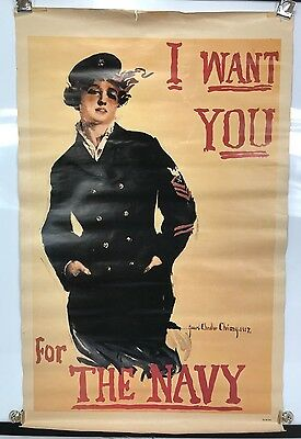 1974 US Navy Recruiting Poster - I Want You For The Navy